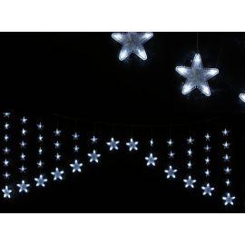 Cortina estrellas led 150cm blanco