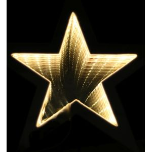 Estrella luz infinita 35cm plata