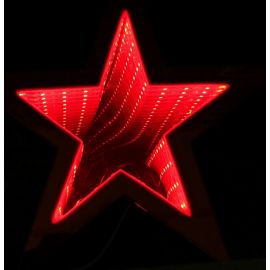 Estrella luz infinita 35cm roja
