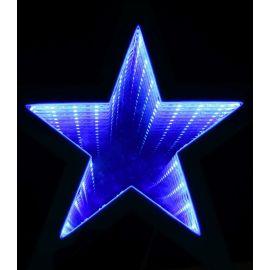 Estrella luz infinita 35cm azul