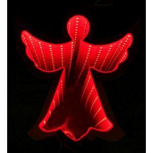 Angel luz infinita 20cm rojo