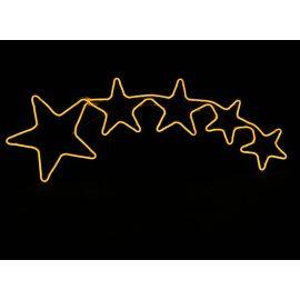 Silueta 5 estrellas led 102x37cm