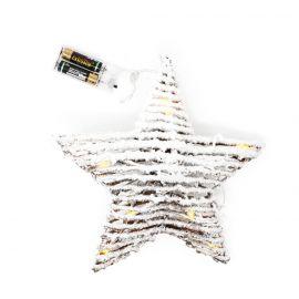 Estrella mimbre luz 30cm