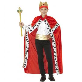 Disfraz rey capa corona inf