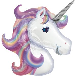 Globo helio unicornio arcoiris