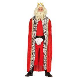 Capa reina/rey terciopelo roja 150cms