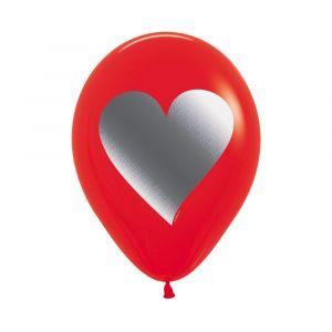 Globos rojos con corazon