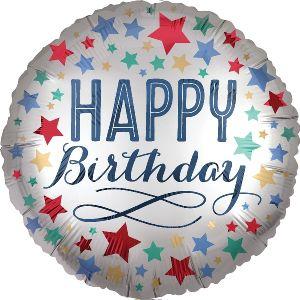 Globo helio happy birthday plata