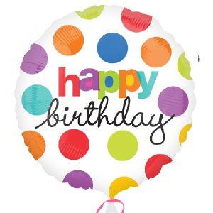 Globo helio happy birthday topo