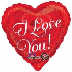Globo helio corazon love you