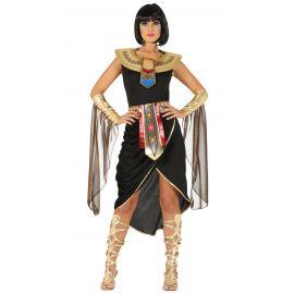 Disfraz reina egipcia corto negro ad