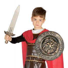 Escudo de 30 cms con espada de 48 cms
