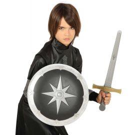 Escudo 35 cm y espada 50 cm medieval