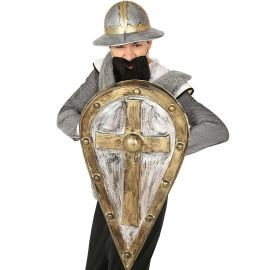 Escudo medieval 44 x 75 cms alargado