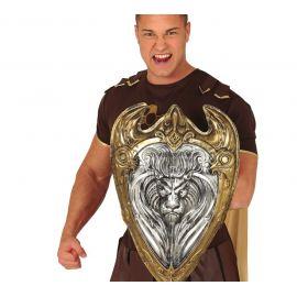 Escudo medieval con leon 60 x 40 cms