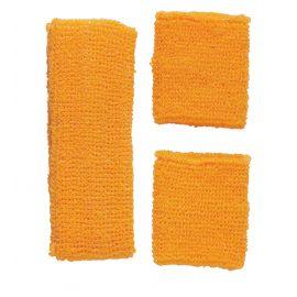 Set banda y pulseras naranjas