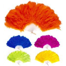 Abanico plumas colores surt