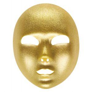 Mascara dorada tela