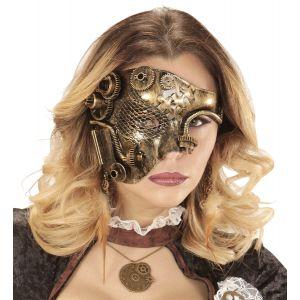 Media mascara steampunk cobre