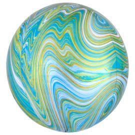 Globo helio esfera marmol verde