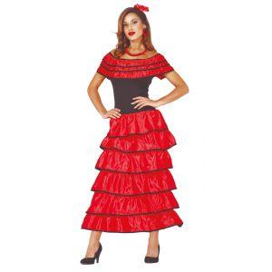 Disfraz flamenco rojo ad