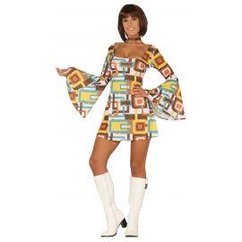 Disfraz chica disco vestido