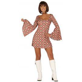 Disfraz años 70 ad vestido