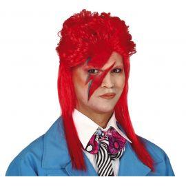 Peluca roja rock 70s