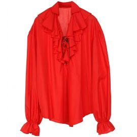 Camisa renacentista roja