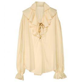 Camisa renacentista beige