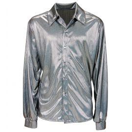 Camisa holografica plata m/l