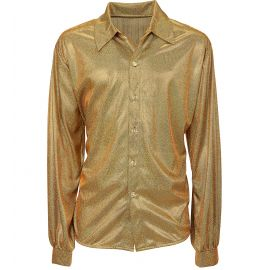Camisa holografica oro m/l