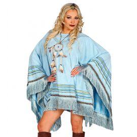 Poncho mejicano azul