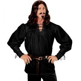 Camisa espadachin negra xl