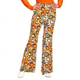 Pantalón años 70 mujer círculos S/M