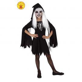 Disfraz esqueleta encapuchada