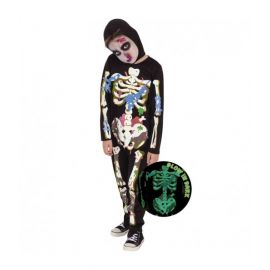 Disfraz esqueleto brillante