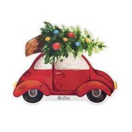 Servilletas forma coche navidad