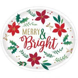 Platos ovalados navidad deseos