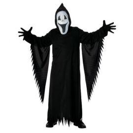 Disfraz fantasma negro feliz