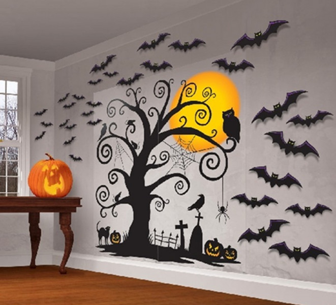 decoracion pared halloween